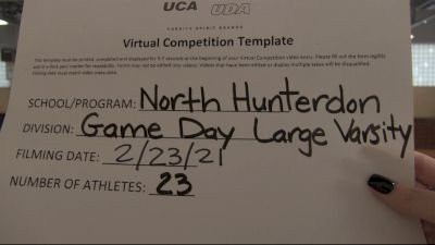 North Hunterdon High School [Game Day Large Varsity] 2021 UCA February Virtual Challenge