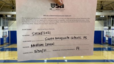 Santa Margarita Catholic High School [Lyrical Varsity - Medium] USA Spirit & Dance Virtual National Championships