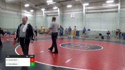 177 lbs 5th Place - Brett Shoenfelt, JU vs Cody Cornelius, EP