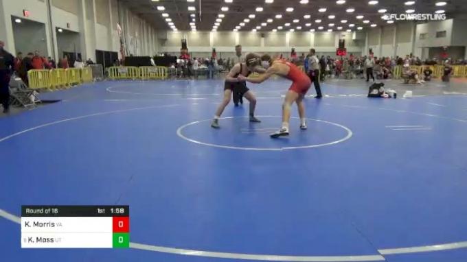 160 lbs Round Of 16 - Kaine Morris, VA vs Kam Moss, UT