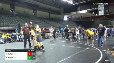 130 lbs 3rd Place - Trenton Guiher, Team PA Gold (E) vs Matthew Kubas, IKWF Gold (E)