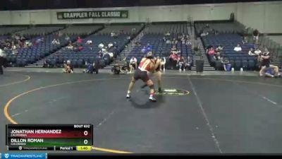 135 lbs Cons. Round 6 - Dillon Roman, Colorado vs Jonathan Hernandez, California