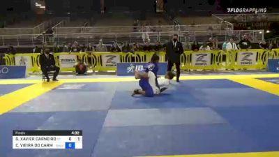GIOVANNA XAVIER CARNEIRO vs CAROLINA VIEIRA DO CARMO MASSOT 2021 Pan Jiu-Jitsu IBJJF Championship