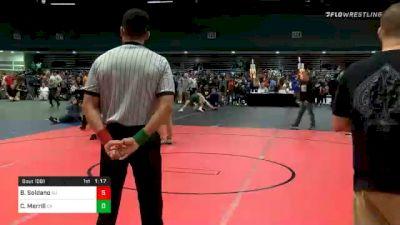 182 lbs Quarterfinal - Brian Soldano, NJ vs Cody Merrill, CA