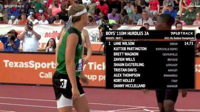 High School Boys' 110m Hurdles 2A, Finals 1