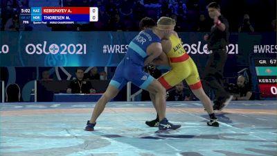 67 kg 1/4 Final - Almat Kebispayev, Kazakhstan vs Morten Thoresen, Norway