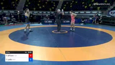67 kg Consolation - Tyler DiFiore, Florida vs Ty Lydic, Westmoreland County Wrestling Club