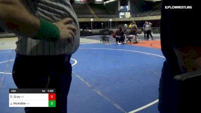 295 lbs 5th Place - Demetrious Gray, Nr vs Johnnie McKeller, Nr
