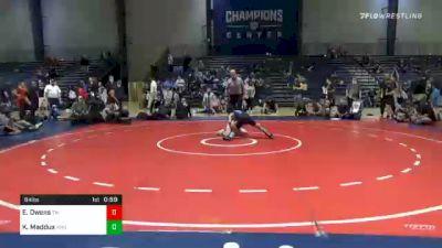 84 lbs Final - Evan Owens, Teknique Wrestling vs Kason Maddux, Trion Mat Dogs