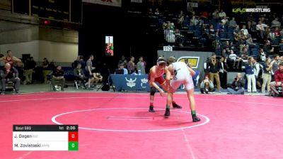 149 lbs Consi Of 4 - Jarrett Degen, Iowa State vs Matt Zovistoski, App St