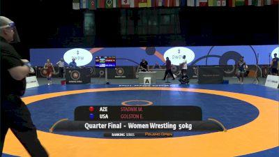 50kg Quarter-Finals - Erin Golston, USA vs Mariya Stadnik, AZE