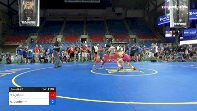 160 lbs Cons 8 #2 - Colby Njos, Minnesota vs Aurelius Dunbar, Pennsylvania
