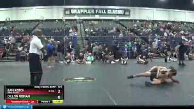 135 lbs 5th Place Match - Dillon Roman, Colorado vs Sam Kotch, New Jersey