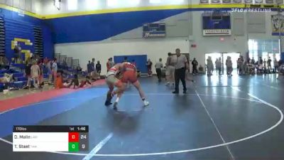 170 lbs Semifinal - David Malin, Law (WI) vs Tristan Staat, Thoroughbred Wrestling Academy