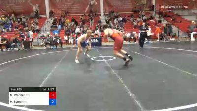 86 kg Consolation - Matthew Waddell, Regional Training Center South vs Max Lyon, Boilermaker RTC