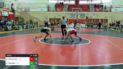 106 lbs Semifinal - Ky Szewczyk, Waynesburg vs Cael Nasdeo, Williamsport
