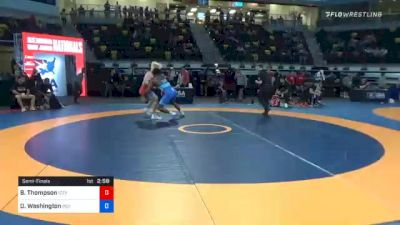 79 kg Semifinal - Brayden Thompson, Izzy Style Wrestling vs Donnell Washington, Indiana RTC