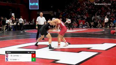 165 lbs Quarterfinal - Diego Lemley, Indiana vs Shayne Oster, Northwestern