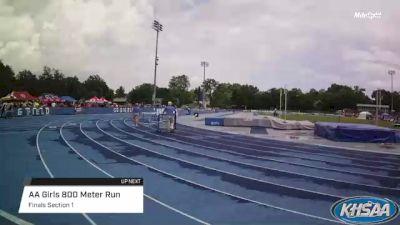High School Girls' 800m Aa, Finals 1