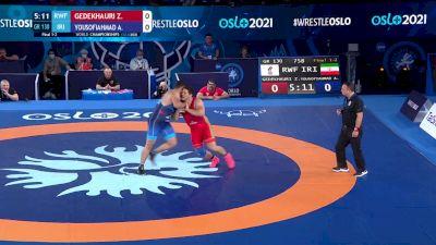 130 kg Final 1-2 - Zurabi Gedekhauri, Russian Wrestling Federation vs Aliakbar Yousofiahmadchali, Iran