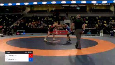 125 kg Consolation - Christian Lance, Nebraska Wrestling Training Center vs Demertius Thomas, Pittsburgh Wrestling Club