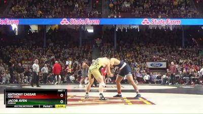 285 lbs Round Of 16 - Anthony Cassar, Penn State vs Jacob Aven, Purdue