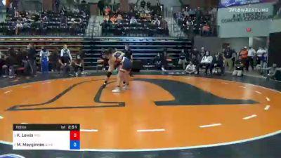 155 lbs Semifinal - Kamalamaokapomahealani Lewis, Midland vs Morgan Mayginnes, Baker