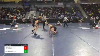 174 lbs Quarterfinal - Kyle Briggs, Wartburg College vs John Marsh, Cornell College