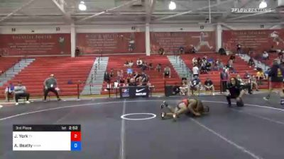 67 kg 3rd Place - Jaylen York, Texas vs Aundre Beatty, Warren Wrestling Academy