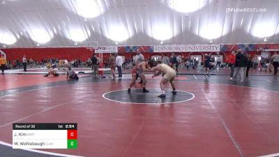 174 lbs Prelims - Josh Kim, Boston RTC vs Max Wohlabaugh, Clarion