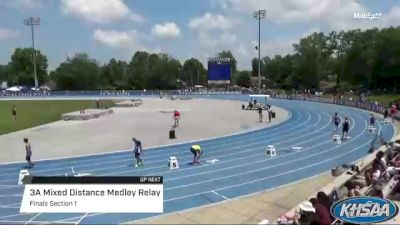 High School Mixed Distance Medley Relay 3A, Finals 1