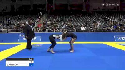 BRIDGET GRACE MCELIECE vs ELISABETH ANN CLAY 2021 World IBJJF Jiu-Jitsu No-Gi Championship