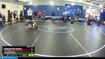 85 lbs Round 3 - Andres Rojs, Miami Wrestling Club vs Christopher Greene, Mater Lakes
