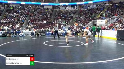 145 lbs Quarterfinal - Dorian Gonzalez, Newport vs Gage McClenahan, Bald Eagle Area
