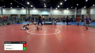 120 lbs Consolation - Solomon Lucero, Arizona vs Isaiah Wysong, South Carolina