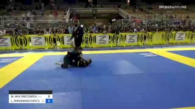 MAGDALENA MIA OWCZAREK vs LEI'A MAKANAKU'UPU'UWAI ESPIRITU 2021 Pan Kids Jiu-Jitsu IBJJF Championship