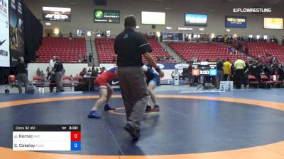 74 kg Cons 32 #2 - Jordan Komac, Argo Wrestling Club vs Sammy Cokeley, Finger Lakes RTC