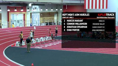 Men's Heptathlon 60m Hurdles, Heat 2
