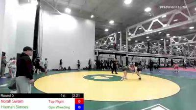 122 lbs Rr Rnd 5 - Norah Swaim, Top Flight vs Hannah Simoes, Gps Wrestling