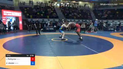 92 kg Semifinal - Isiah Pettigrew, Team Poeta vs Zach Glazier, Hawkeye Wrestling Club