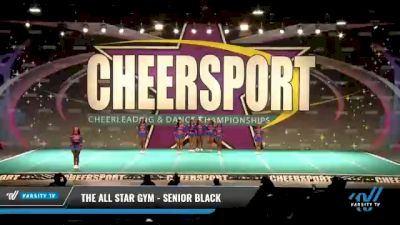 The All Star Gym - Senior Black [2021 L3 Senior - D2 - Small Day 2] 2021 CHEERSPORT National Cheerleading Championship