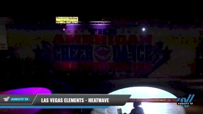 Las Vegas Elements - Heatwave [2021 L4 Junior - D2 - Small Day 1] 2021 The American Celebration DI & DII