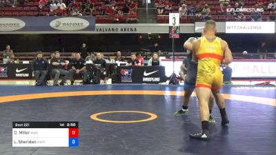 97 lbs Rr Rnd 2 - Daniel Miller, Marines vs Lucas Sheridan, Army (WCAP)