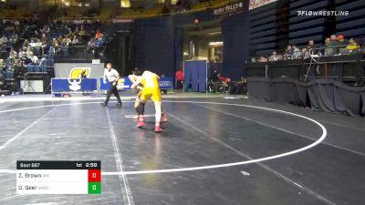 197 lbs Consolation - Zach Brown, Virginia Military Institute vs Dakota Geer, Oklahoma State