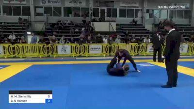 Hannah M. Sternblitz vs Christiana N Hansen 2021 Pan IBJJF Jiu-Jitsu No-Gi Championship