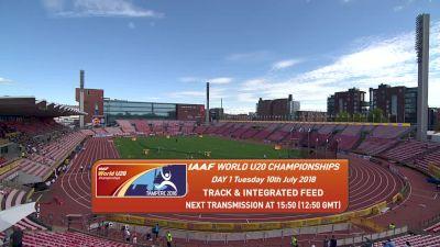 2018 IAAF World U20 Championships, Day One Evening Session