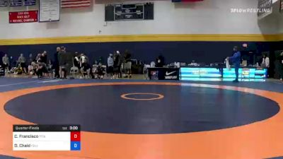 125 kg Quarterfinal - Ceron Francisco, Titan Mercury Wrestling Club (TMWC) vs Daniel Chaid, California Regional Training Center (CA RTC)