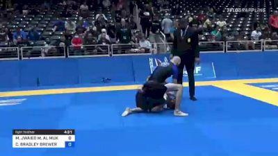 MOHAMMED JWAIED M. AL MUKHALIS vs CHRISTOPHER BRADLEY BREWER 2021 World IBJJF Jiu-Jitsu No-Gi Championship