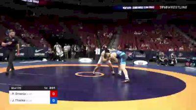 67 kg Semis - Peyton Omania, New York Athletic Club vs Jesse Thielke, Army (WCAP)