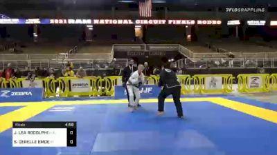 JEANETTE LEA RODOLPHO vs SHARON CERELLE EMDE 2020 World Master IBJJF Jiu-Jitsu Championship